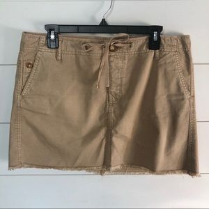 GAP Mini Skirt with Raw Hem Size 10